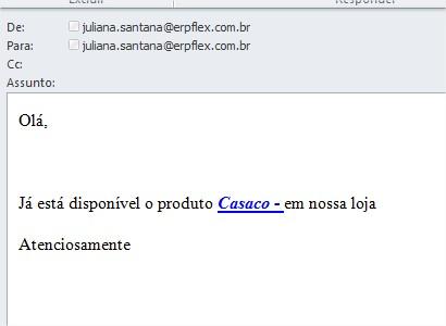 email recebido